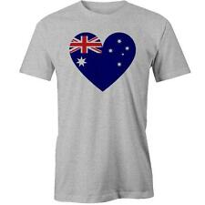 Australian Flag Heart T-Shirt Australia Day Aussie Tee New