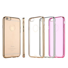 For Apple iPhone 6S /6S Plus Ultra-thin Metallic Soft TPU Back Cover Case Skin