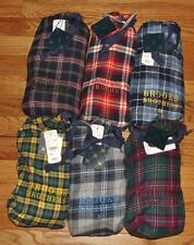 NWT Mens Brooks Brothers Plaid Flannel Drawstring Pajama Lounge Pants 6 COLORS