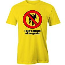 I Ain't Afriad of no Goats T-shirt Funny Ghost Busters Ghost Parody meme Tee New