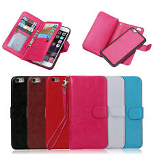 For Apple iPhone 6S /6S Plus Multiple Card Slot Magnetic PU Leather Wallet Case