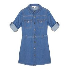 Bluezoo Kids Girls' Blue Denim Shirt Dress From Debenhams