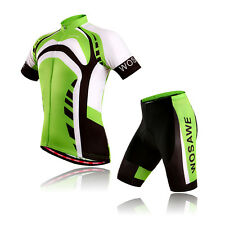 Men's Cycling Jerseys MTB Bike Bicycle Jersey Top Short Sleeve Shirt Short Green