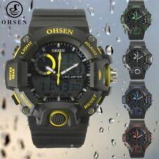 OHSEN Men's Luxury Sports Digital LED Stopwatch Date Quartz Wrist Watch
