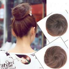 Women Beauty Pony Tail Clip in/on Hair Bun Hairpiece Hair Extension Scrunchie