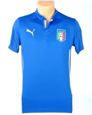 Puma FIGC Italia National Football Team Blue Soccer Jersey Youth Boys NWT