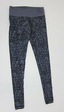 Zumba Scribble Perfect Long Leggings - Go for Gunmetal - NWT
