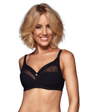 Berlei Heaven Embroidery Black and Night Blue Non Wired Soft Cup Bra B5077