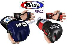 NEW SPARRING GLOVES FGV12 MUAY THAI BOXING MMA FAIRTEX  OPEN THUMB LOOP ULTIMATE