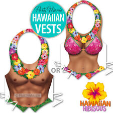 ALOHA HAWAIIAN TROPICAL BBQ BEACH POOL PARTY BIKINI BABE OR MUSCLE MAN VEST