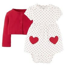 2 Piece Valentine's Day Red Sweater & White & Red Hearts Dress Snap Bottom NWT
