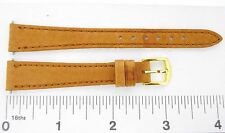 Watchband Apollo GENUINE PIGSKIN leather tan 14 mm regular watch strap
