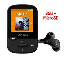 SanDisk Sansa Clip Sport 8GB MP3 Player +SanDisk MicroSD card –Genuine&Brand New