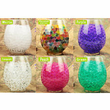 50g Round Water Storing Gel Beads - Expanding Water Pearl Beads for Centerpieces