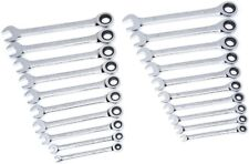 GENUINE GearWrench Ratcheting Wrench Set 10 SAE/Inch, 10 Metric/MM, 20 Pc Set