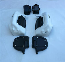 WHITE/SILVER Lower Vented Leg Fairings Harley Touring Road King FLHR FLHT street