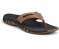 Sperry Top-Sider Son-R Pulse Men Leather Thong Sandal Flip Flop Dark Brown  Sz 9