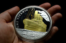 TITANIC LARGE PROOF SILVER & GOLD PLATED MEDAL westminster collection coin
