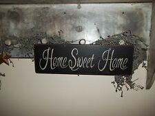 Wood Sign HOME SWEET HOME Country home decor Prim RUSTIC Prim Home Decor Sign
