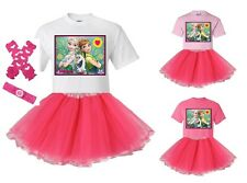 """""""Frozen Fever Green"""" Personalized T-Shirt and Pink Tutu Set - NEW"""