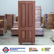 4 Panel Traditional French Solid Timber Doors Heavy Moulding Cricket Bat Luxury