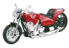Diecast 1:18 Street Rod Red Motorcycle MotorMax Model Die Cast Bike M492
