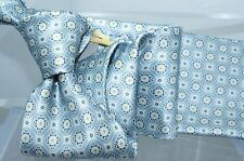 Canali Mens Tie Grey Gold 100 % Silk Multi Color Neckwear NWT