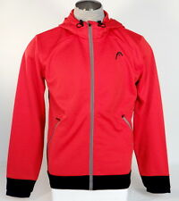 Head Classic Fit Red Zip Front Hooded Track Jacket Hoodie Mens NWT