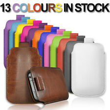 NEW PULL TAB PU LEATHER POUCH COVER CASE *only* fits ZTE Blade V6.
