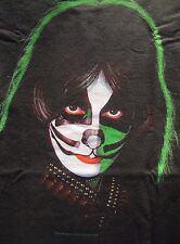 NEW Licensed Peter Criss   Kiss Solo Album Double Sided s/s T Shirt Cat Man O.G.