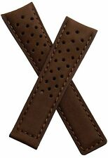 22mm Brown Brushed Leather Watch Strap for TAG Heuer Carrera SpaceX CAR2015