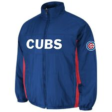 Chicago Cubs Majestic MLB On-Field Double Climate Therma Base Jacket