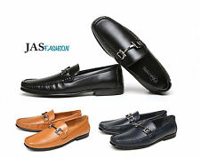Mens Loafers Casual Slip On Designer Driving Shoes Smart Formal Moccasin Size UK
