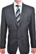$350 Calvin Klein Slim Fit Grey Herringbone Two Button New Men's Sport Coat ET52