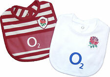 ENGLAND RUGBY BABY BIB SET TWIN PACK RFU OFFICIAL PRODUCT