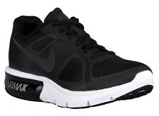 NEW WOMENS NIKE AIR MAX SEQUENT RUNNING SHOES TRAINERS BLACK / WOLF GREY / WHITE