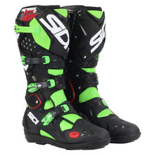 Sidi NEW 2016 Mx Crossfire 2 SRS Euro Race Dirt Bike Black Green Motocross Boots