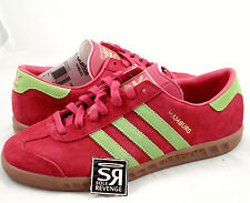 New 9 adidas Originals Mens Hamburg Shoes Red Beauty Green Gum Lime D65191