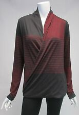 Max Edition Long Sleeve Cross Over Knit Top Blouse Shirt NWT Sz M, L $98
