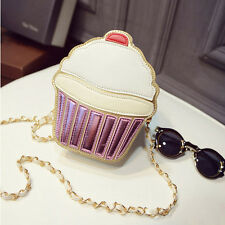 Women Girl Kawayi 3D Ice Cream Handbag Purse Casual Crossbody Shoulder Bag