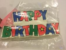 Happy Birthday Cake Topper Layon Cupcake Rings Decorating Supplies Balloons NEW