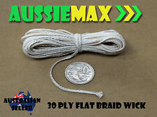 30 Ply 100% Natural Cotton Candle Wick Various Lengths