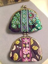NWT Vera Bradley DOUBLE KISSLOCK CHANGE PURSE In BLUE RHAPSODY OR FLORAL NGTGALE
