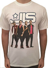 JLS T-Shirt White Tour Top. ASTON, MARVIN, JB & ORITSE. Unisex/Women/Mens tshirt