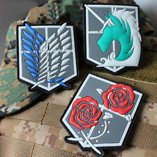 3 PCS Attack on Titan-The Survey Corps Badges Freedom 3D PVC Rubber Patch