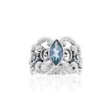 Beautiful Flower .925 Sterling Silver Ring Choice of Gemstone Peter Stone