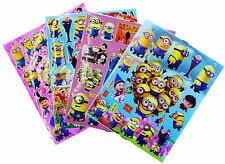 DESPICABLE ME MINION STICKERS PARTY LOOT BAG FILLERS GAME PRIZE - PACK OF 4