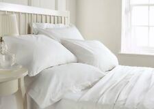 Royal Hotel 1000 TC 1500 TC White Solid 100 % Egyptian Cotton Expedited Shipping