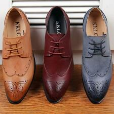 New Mens Oxford Brogue Lace Up Wing Tip Casual Dress Formal Party Office Shoes