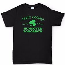 Irish Today St Patricks Day Paddy's Day Shamrock Clover T shirt Tee T-shirt